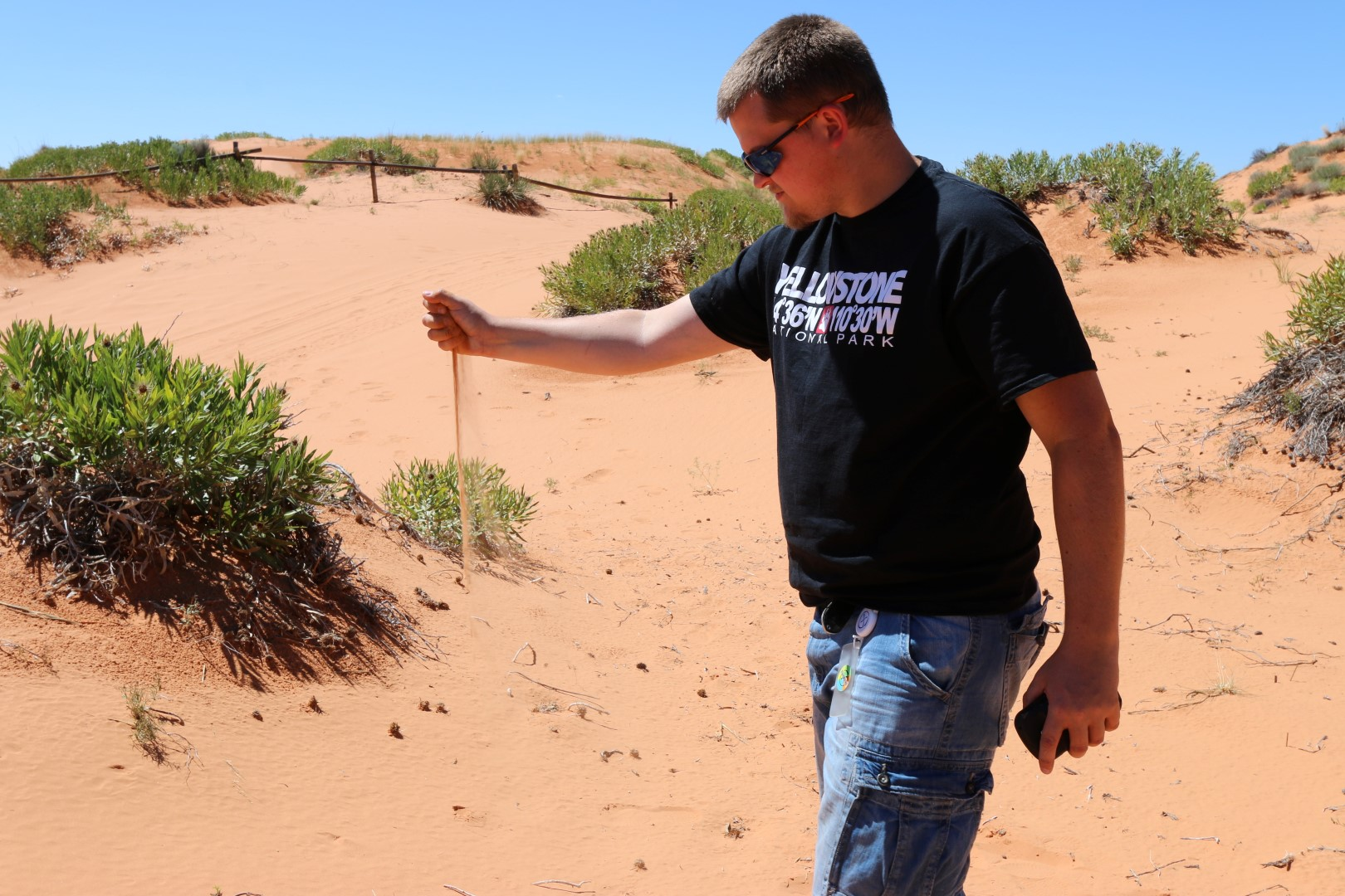 Me in Coral Pink Sand Dunes SP