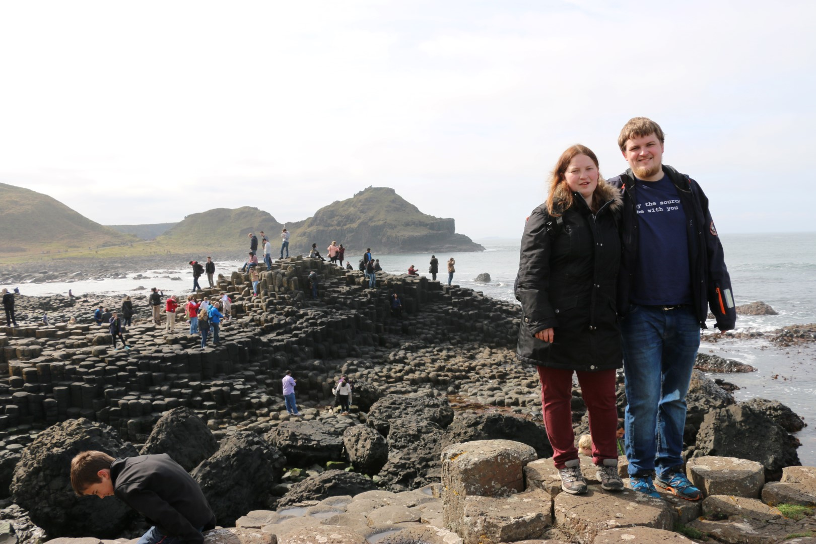 Heltinnen and myself at Giants Causeway