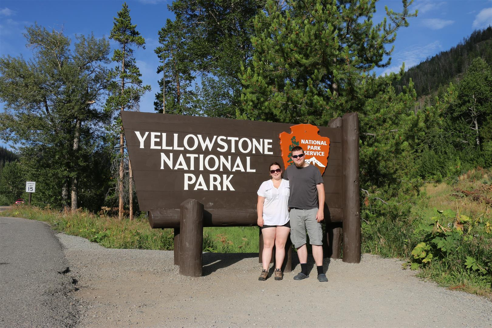 Entering Yellowstone NP