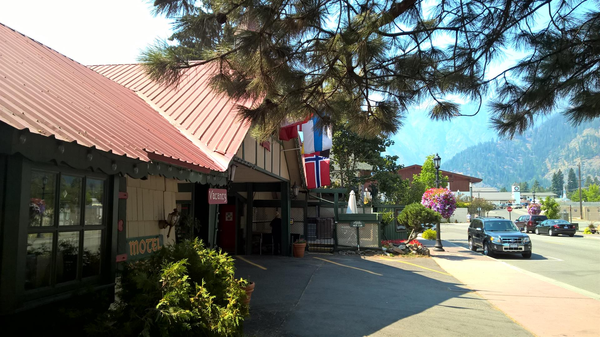 Norwegian flag in Leavenworth