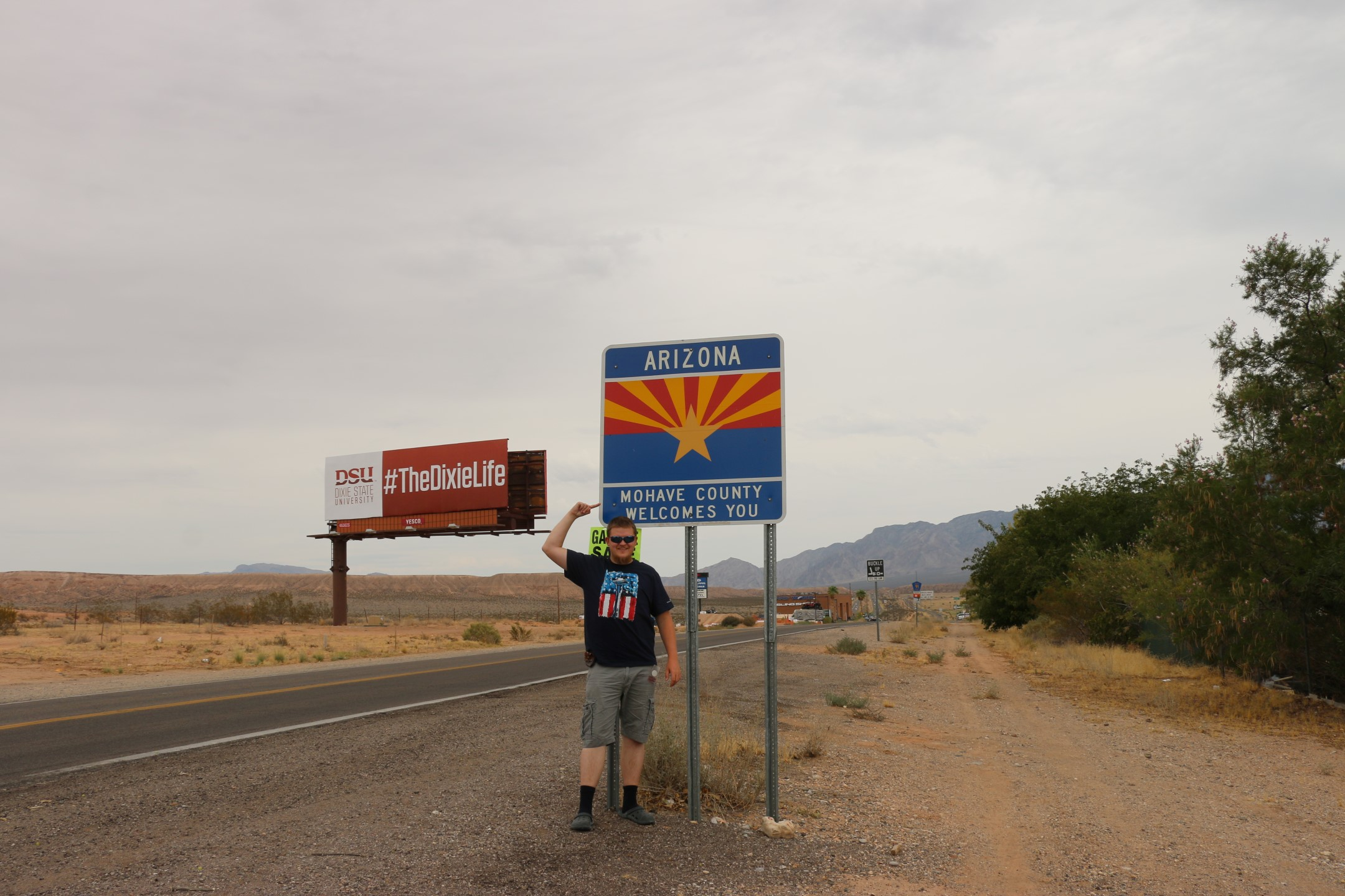 Me at the Arizona border