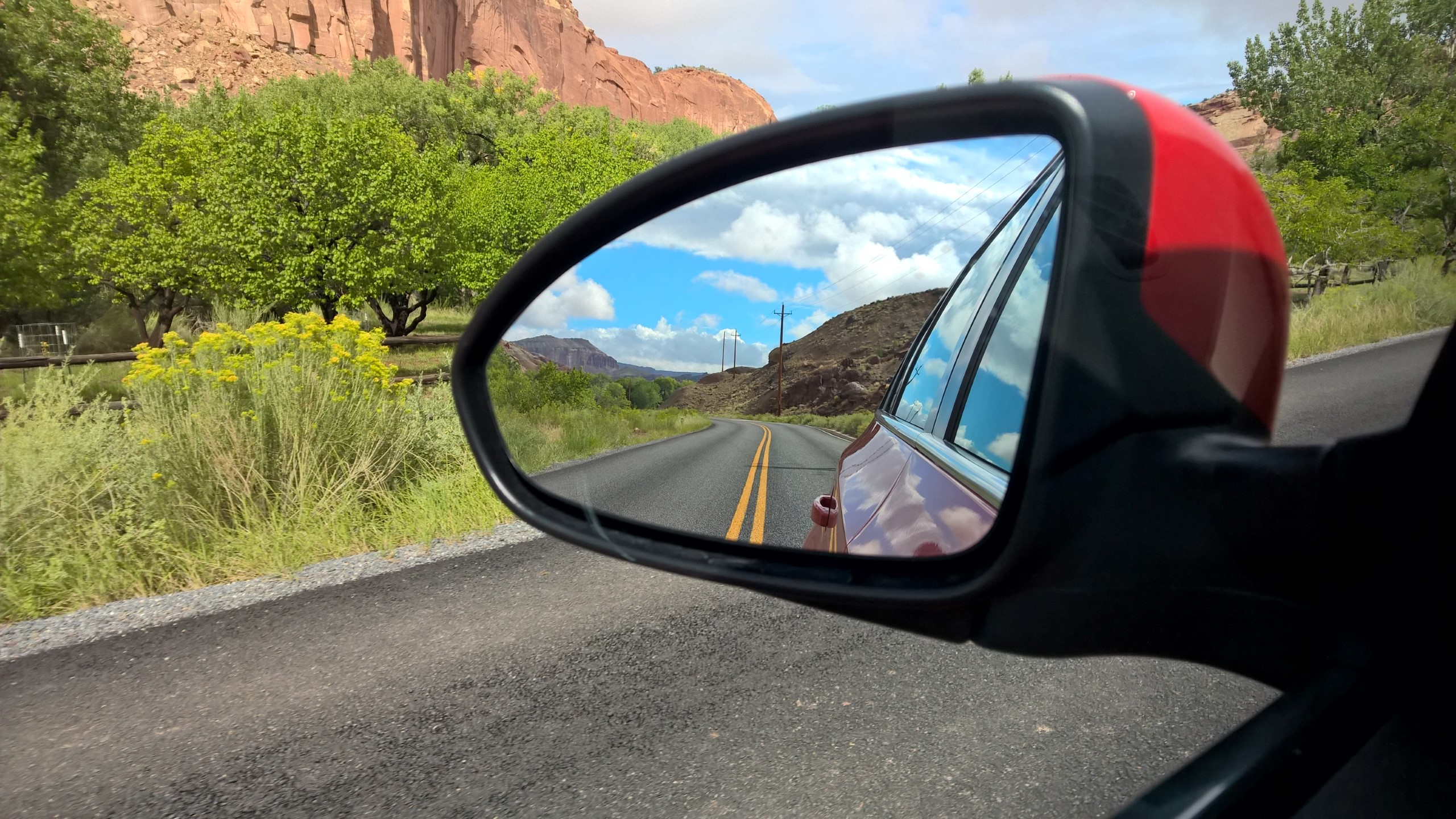 Driving through Capitol Reef