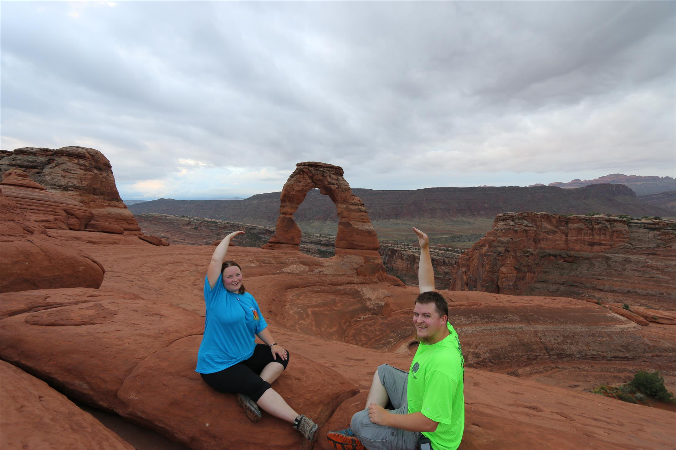 Us and Delicate Arch
