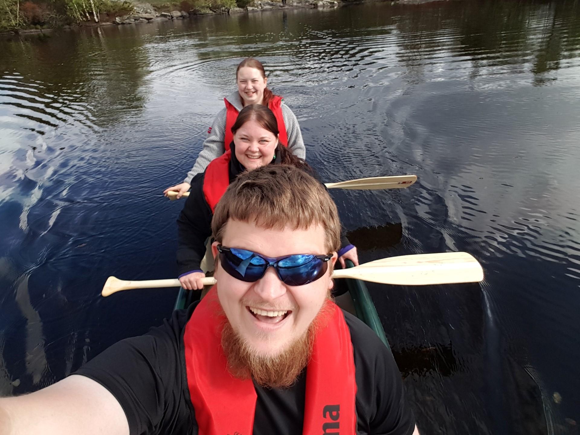 På kanotur