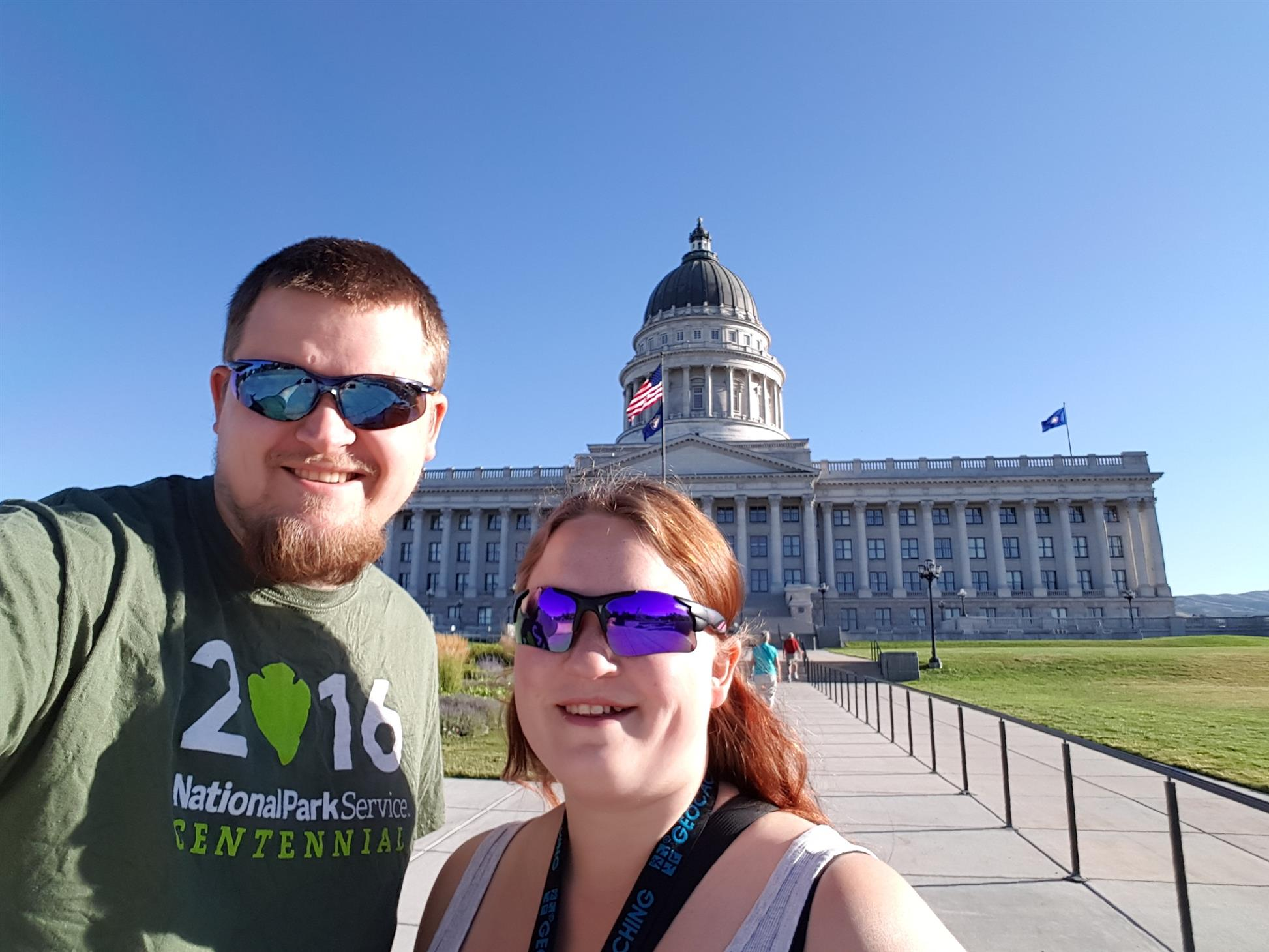 Us in front of the Utah State Capitol Building