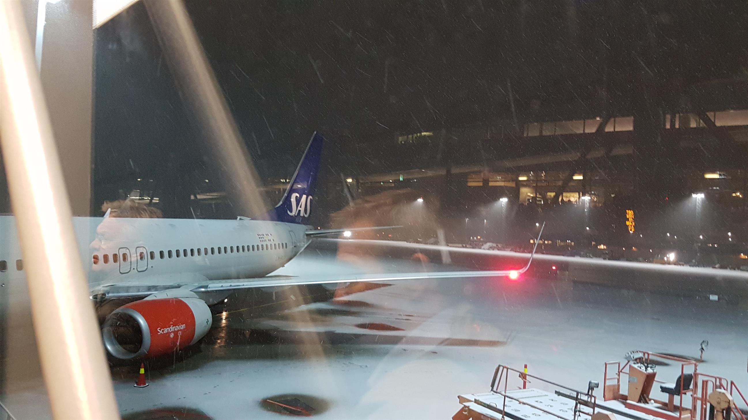 Snø på Gardermoen